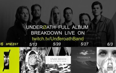 Underoath are breaking down their discography on Twitch
